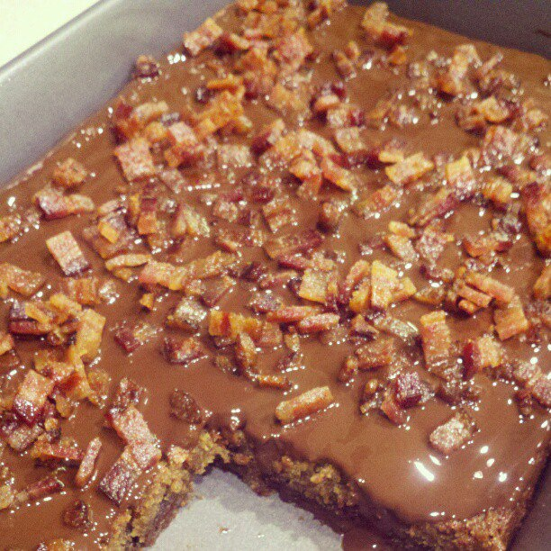 ... maple bacon blondies maple frosted blondies maple bacon blondies