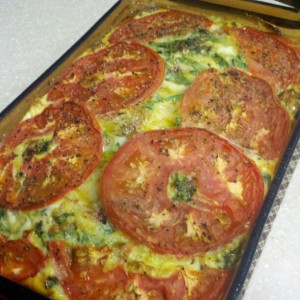 tomato egg bake