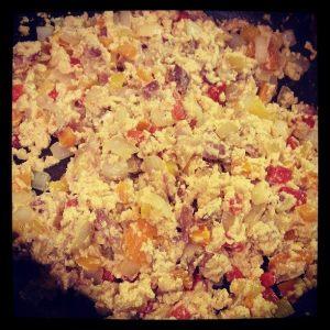 bacon egg scramble